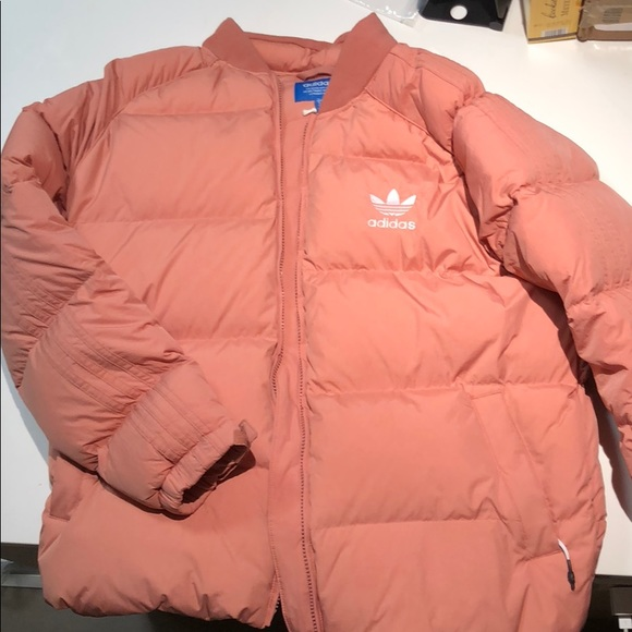 71fd44ab8 adidas Jackets & Coats   Blush Pink Puffer Filled With Down   Poshmark